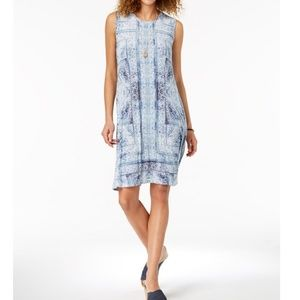 STYLE & CO Printed Swing Dress